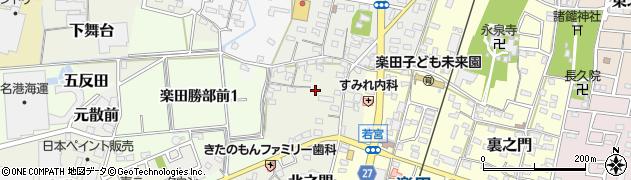 愛知県犬山市勝部前周辺の地図