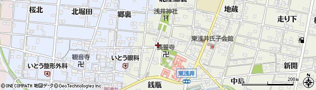 愛知県一宮市浅井町東浅井(戌亥)周辺の地図