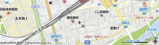 岐阜県多治見市田代町周辺の地図