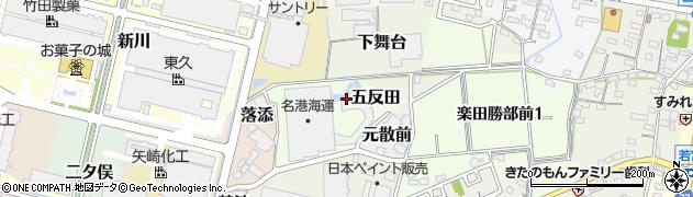 愛知県犬山市五反田周辺の地図