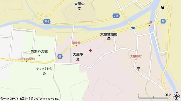 〒667-0312 兵庫県養父市大屋町山路の地図