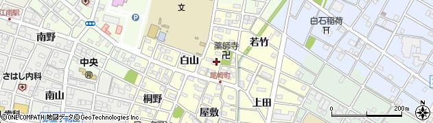 愛知県江南市尾崎町(白山)周辺の地図