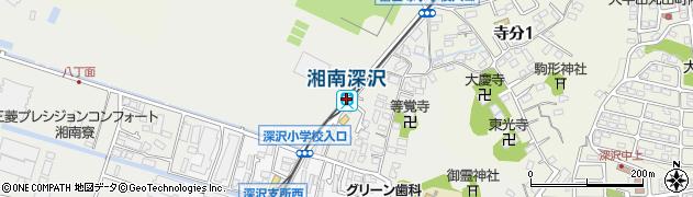神奈川県鎌倉市周辺の地図