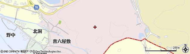 愛知県犬山市喜六屋敷周辺の地図