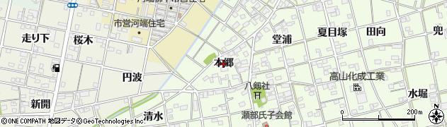 愛知県一宮市瀬部(本郷)周辺の地図