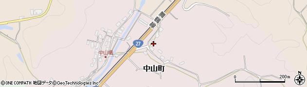 京都府綾部市中山町(本丸段)周辺の地図