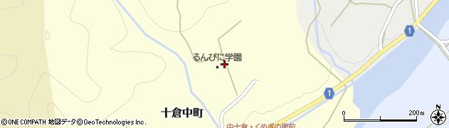 京都府綾部市十倉中町(米谷)周辺の地図