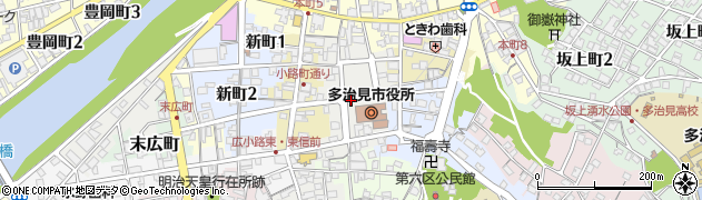 岐阜県多治見市日ノ出町周辺の地図