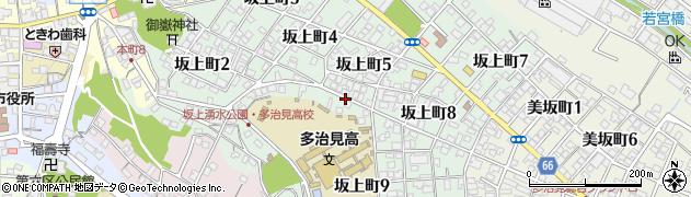 岐阜県多治見市坂上町周辺の地図