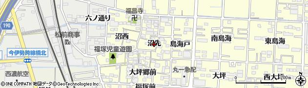 愛知県一宮市木曽川町門間(沼先)周辺の地図