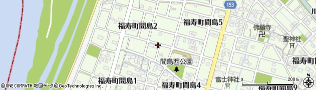 岐阜県羽島市福寿町間島周辺の地図