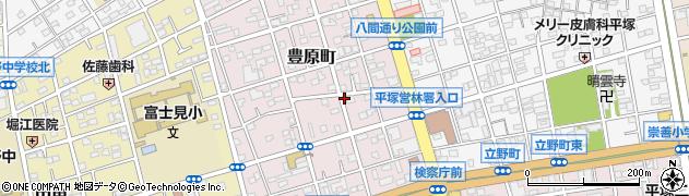 神奈川県平塚市豊原町周辺の地図