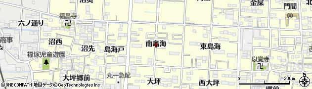 愛知県一宮市木曽川町門間(南島海)周辺の地図