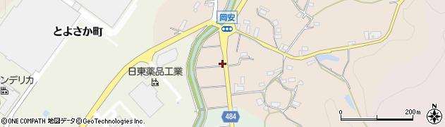 京都府綾部市岡安町(奈良ノ木)周辺の地図