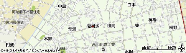 愛知県一宮市瀬部(夏目塚)周辺の地図