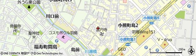 岐阜県羽島市小熊町島周辺の地図