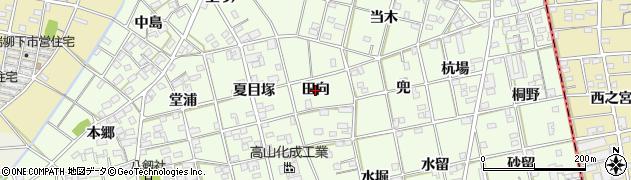 愛知県一宮市瀬部(田向)周辺の地図