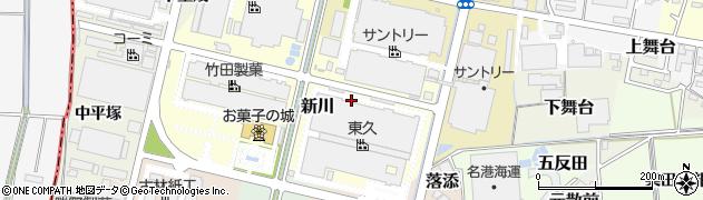 愛知県犬山市新川周辺の地図