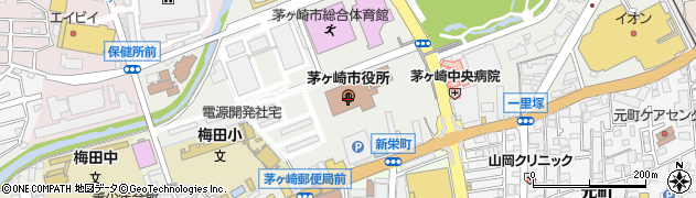 神奈川県茅ヶ崎市周辺の地図