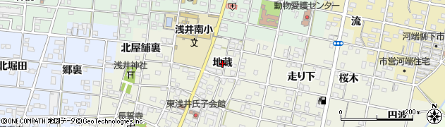愛知県一宮市浅井町東浅井(地蔵)周辺の地図
