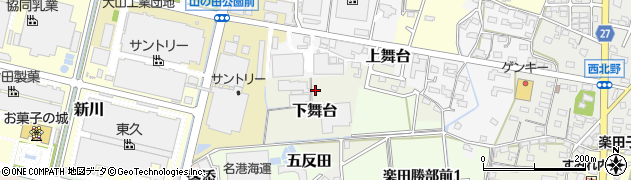 愛知県犬山市下舞台周辺の地図