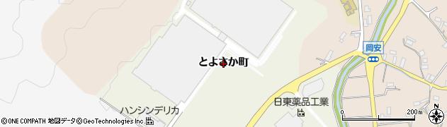 京都府綾部市とよさか町周辺の地図