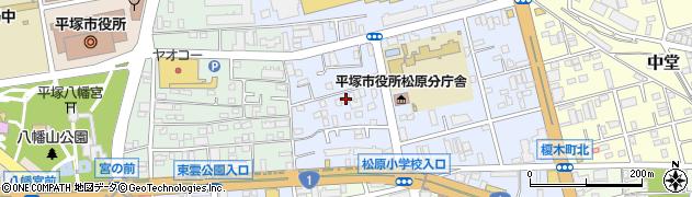 神奈川県平塚市天沼周辺の地図