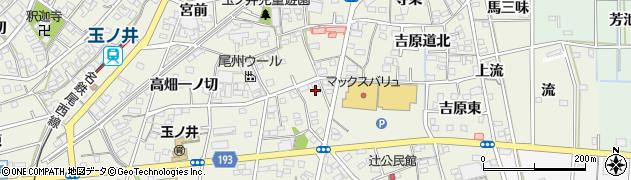 愛知県一宮市木曽川町玉ノ井(八尻)周辺の地図
