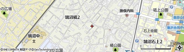 神奈川県藤沢市鵠沼橘周辺の地図