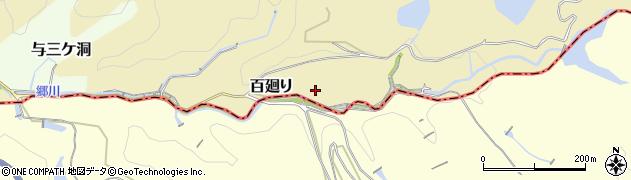 愛知県犬山市百廻り周辺の地図