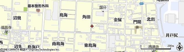 愛知県一宮市木曽川町門間(角田)周辺の地図