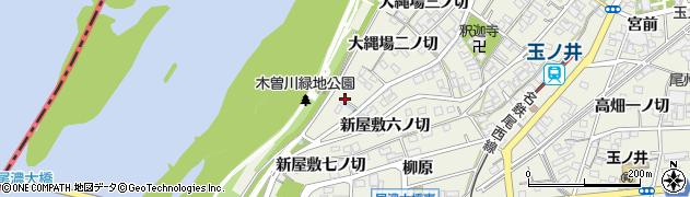 愛知県一宮市木曽川町玉ノ井(大縄場一ノ切)周辺の地図