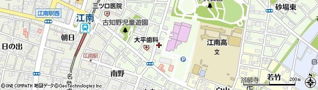 愛知県江南市北野町周辺の地図