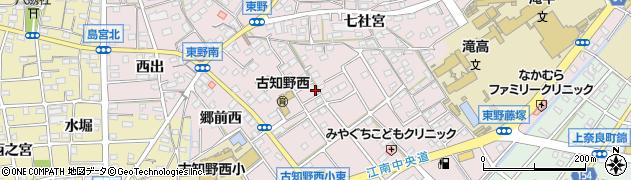 愛知県江南市東野町(郷前)周辺の地図