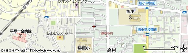 神奈川県平塚市高村周辺の地図