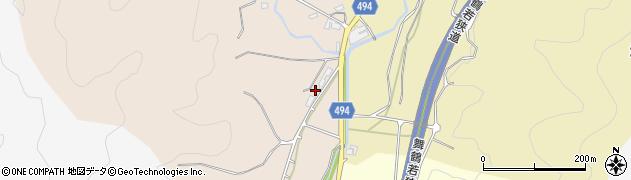 京都府綾部市星原町(岩戸)周辺の地図