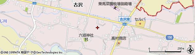 静岡県御殿場市古沢周辺の地図