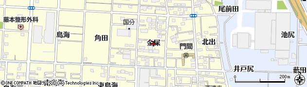愛知県一宮市木曽川町門間(金屎)周辺の地図