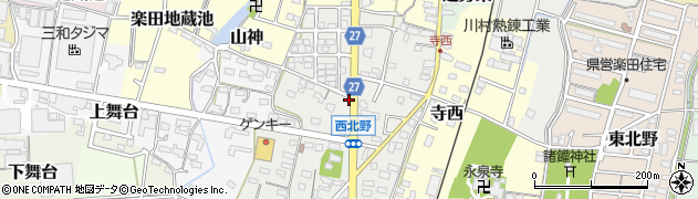 愛知県犬山市西北野周辺の地図