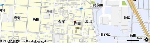愛知県一宮市木曽川町門間(筋違)周辺の地図