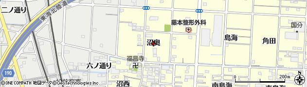 愛知県一宮市木曽川町門間(沼奥)周辺の地図