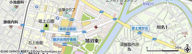 神奈川県藤沢市鵠沼東周辺の地図