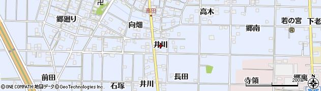 愛知県一宮市高田(井川)周辺の地図