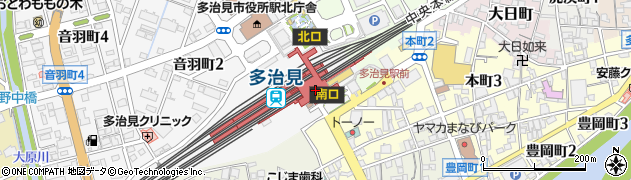 岐阜県多治見市周辺の地図