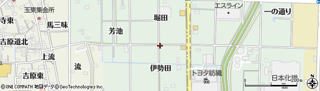 愛知県一宮市木曽川町外割田(上伊勢田)周辺の地図