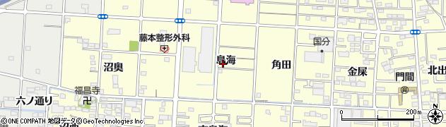 愛知県一宮市木曽川町門間(島海)周辺の地図