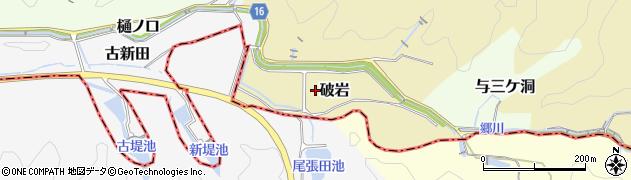 愛知県犬山市破岩周辺の地図