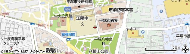 神奈川県平塚市浅間町周辺の地図