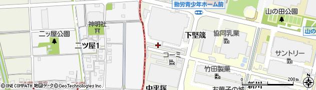 愛知県犬山市羽黒新田(上平塚)周辺の地図
