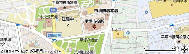 神奈川県平塚市周辺の地図